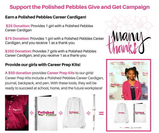 Polished Pebbles Give and Get Campaign